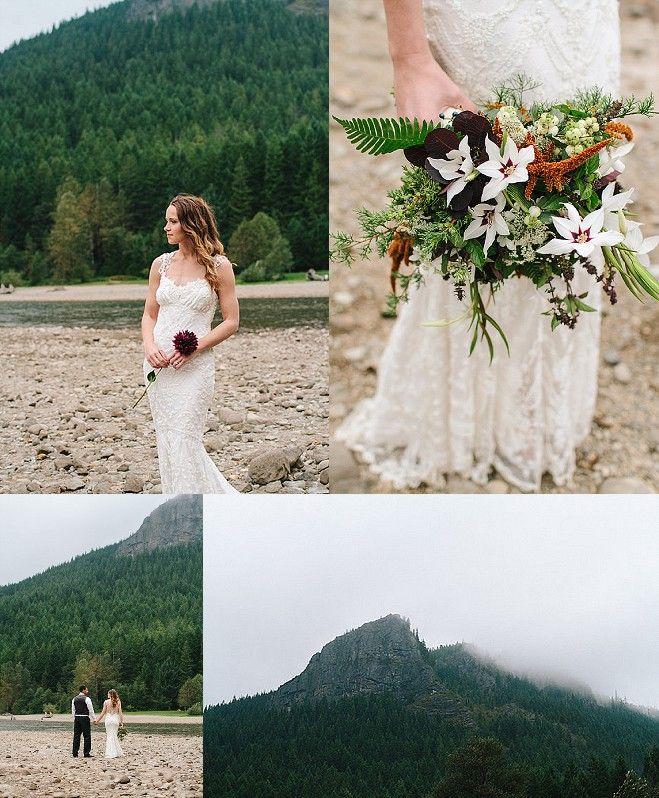 Woodland Wedding Inspiration At Rattlesnake Lake By Jess