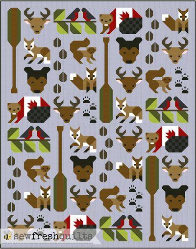 Forest Friends Pattern