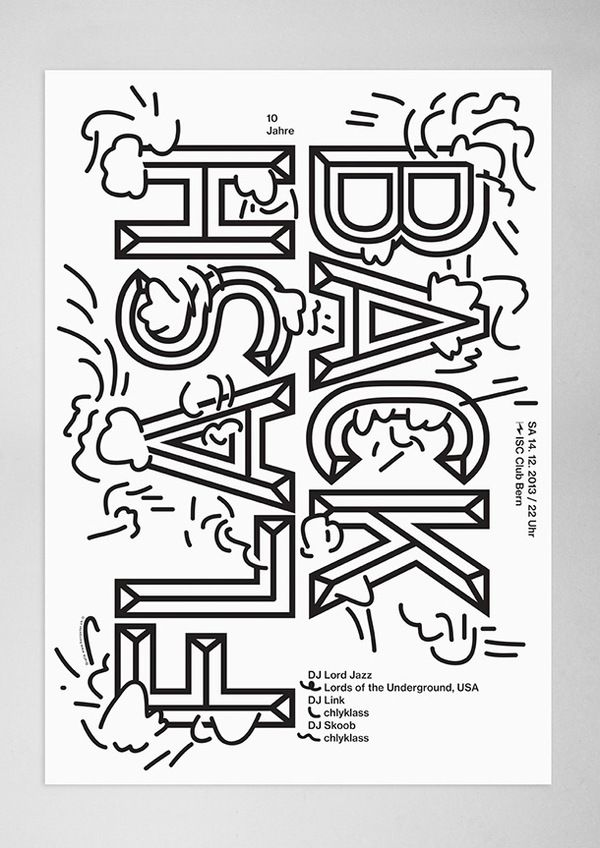 FLASH BACK --- typography poster // source: shit-like