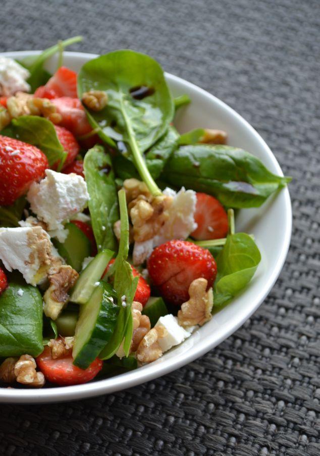 Spinazie Salade met Aardbeien en Balsamico
