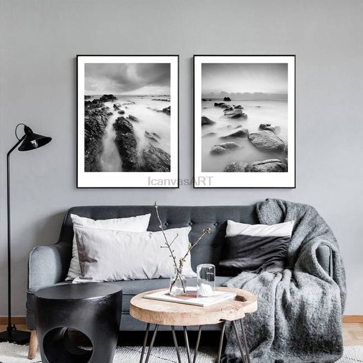 living room art prints%0A Cheap canvas painting  Buy Quality painting for living room directly from  China pictures modern Suppliers  Black White HD Seascape Posters Prints  Canvas