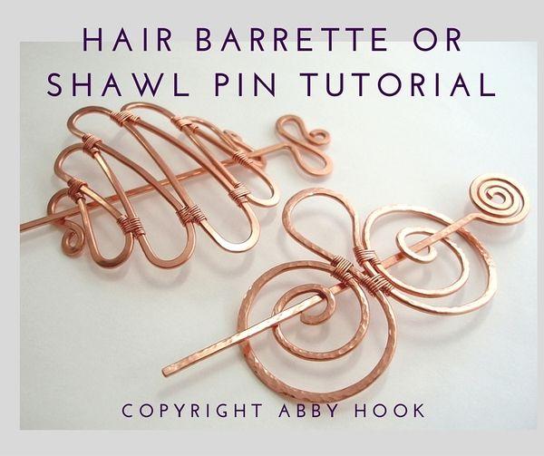 Hair Barrette or Shawl Pin Tutorial