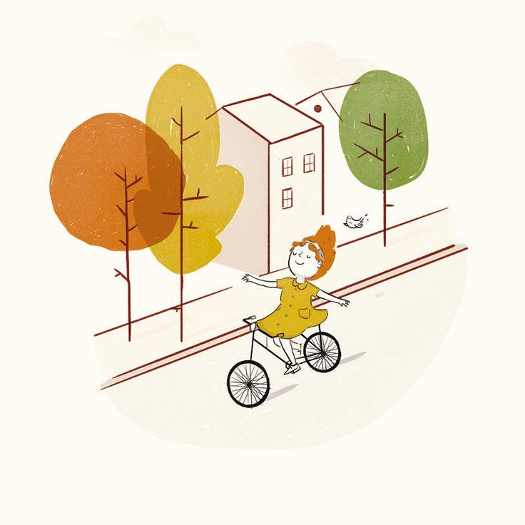 Roledesma, ¡con sus ilustraciones querrás ir en bici y volar!