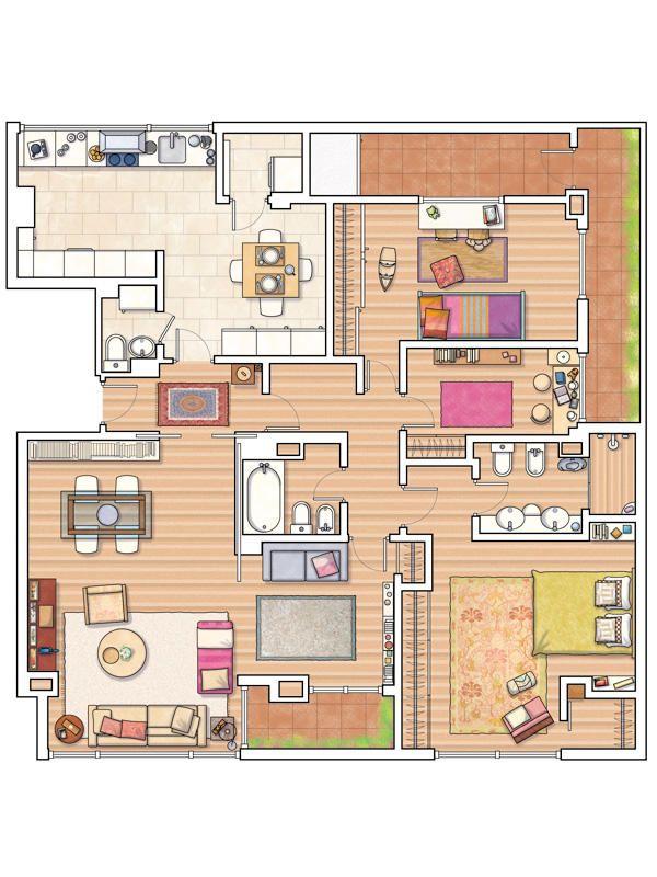 1000 images about architecture on pinterest house plans - Plano de la casa ...