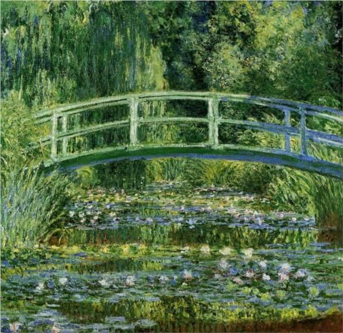 The Japanese Bridge (The Water-Lily Pond) - Claude Monet