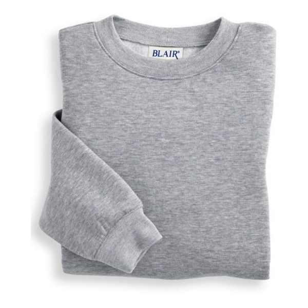 Blair   Better-Than-Basic Sweatshirt ($13) ❤ liked on Polyvore featuring tops, hoodies, sweatshirts, sweaters, crewneck sweatshirt, crew-neck sweatshirts, crew neck sweatshirts, ribbed top and banded bottom tops