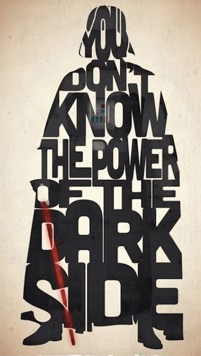 Words darth vader iphone 5 wallpaper star wars - Star wars quotes wallpaper ...