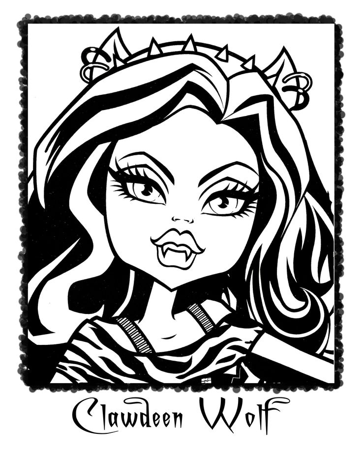 2093 best 2 color monster high images on pinterest for Monster high coloring pages clawdeen wolf