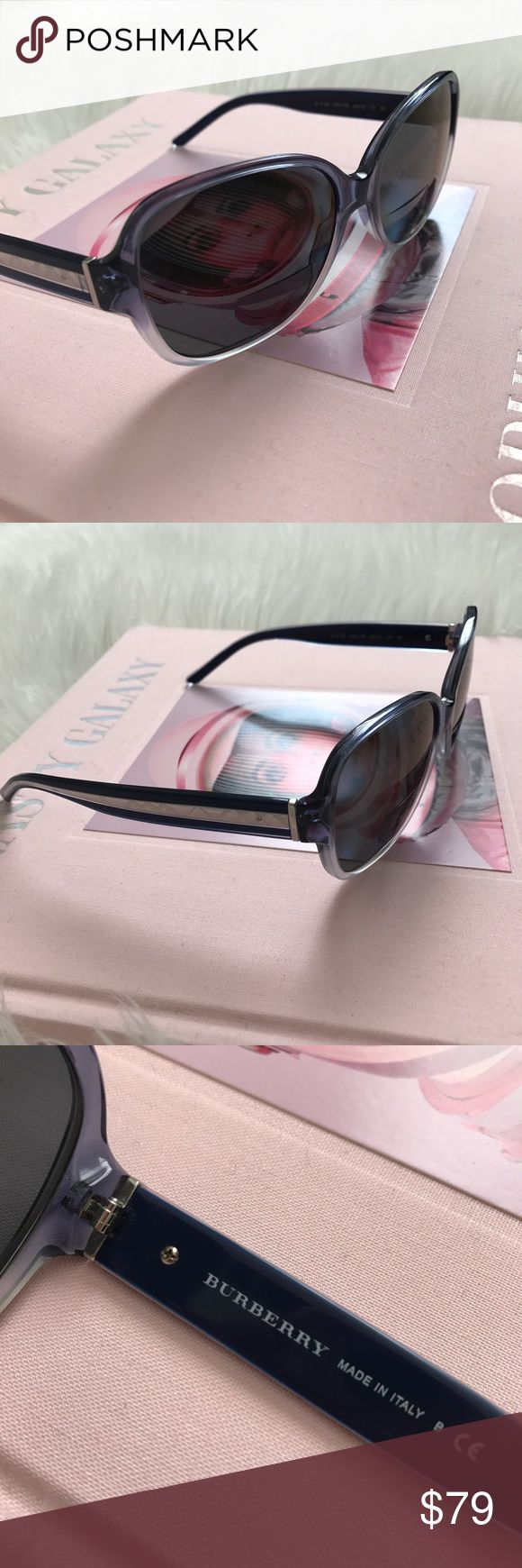 BURBERRY SUNGLASSES NAVY ROUND GLASSES Super glam, these navy authentic Burberry sunglasses. They do have a prescription in them but easily interchangeable with your personal prescription or regular lenses. Fantastic pair of glasses, made in Italy. Gently used. Burberry Accessories Sunglasses