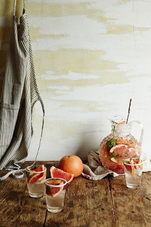sparkling sangria recipe | via: anthropologie