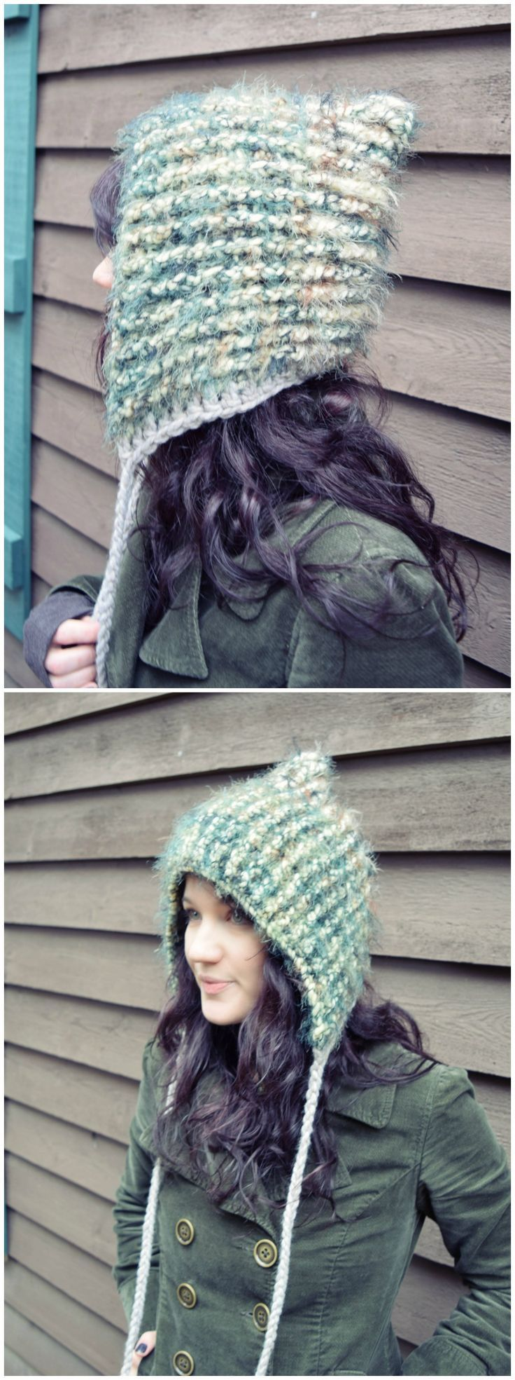 Post Stitch Pixie Hat free crochet pattern