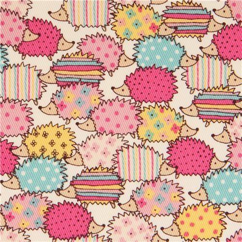 cream hedgehog flower pattern twil fabric from Japan (per 0.5m multiples) Kawaii http://www.amazon.co.uk/dp/B015MEI9YM/ref=cm_sw_r_pi_dp_NPfKwb167NE5X