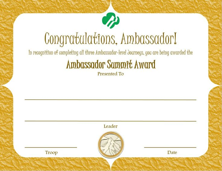 17 best images about girl scout ambassador amp certificates