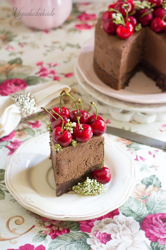 un pedacito de cielo: Cheesecake de chocolate sin horno