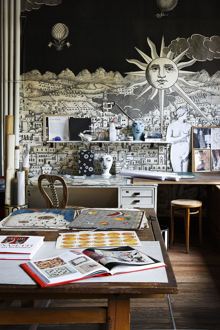 Best Ideas Images On Pinterest Colors Live And Apartment Ideas - Piero fornasetti wallpaper designs
