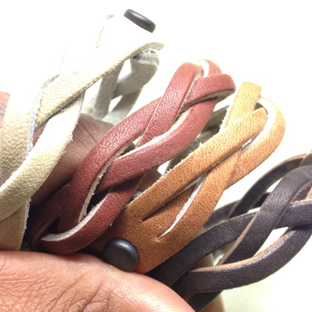 Handcrafted Leather Bracelets On Sale tomm! @Cardinal Rags