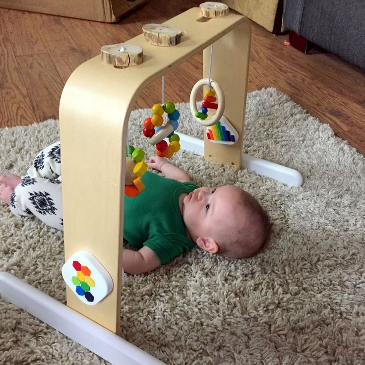 Put Up Your Dukes: Under the Rainbow: Modern Minimalist Waldorf-Inspired IKEA Baby Gym Hack