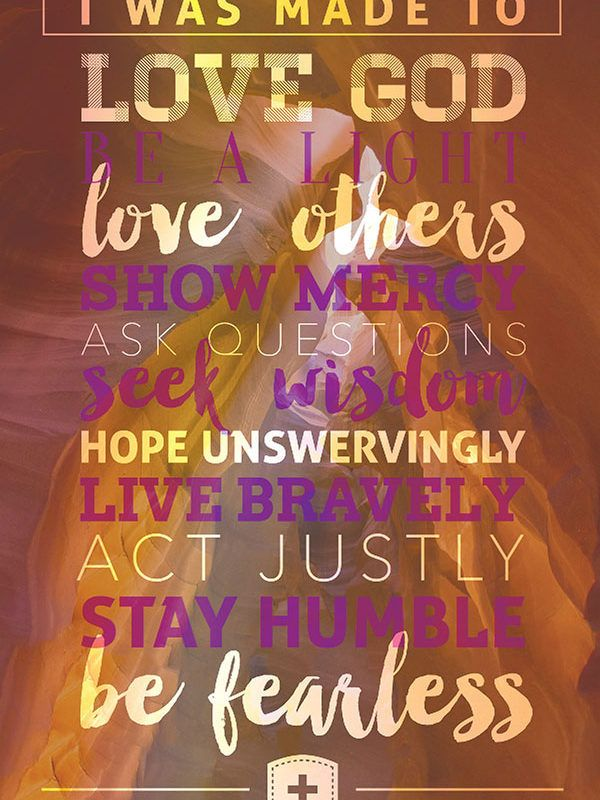 Christian poster: BE FEARLESS