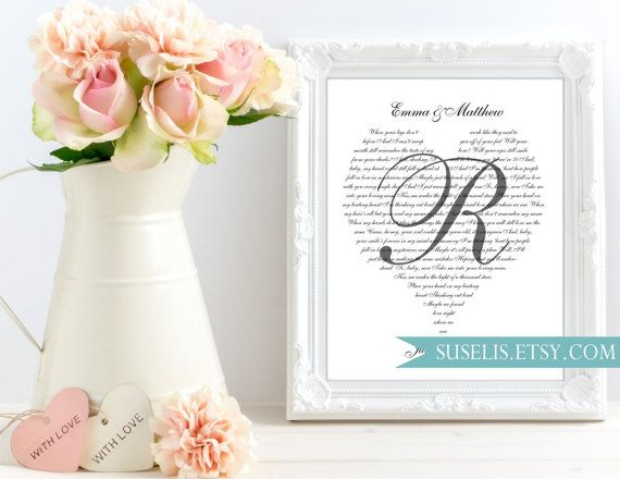 Our song lyrics sign Song Lyrics Wall Art Wedding Vows by Suselis