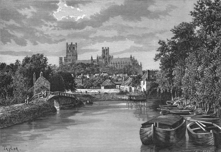 CAMBS: Ely, Banks of Ouse, antique print c1885 | eBay