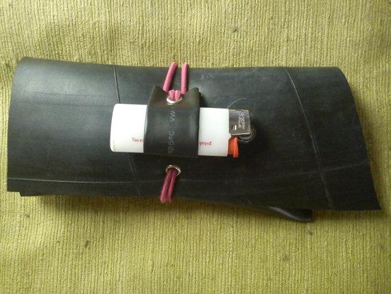 RIB COMBO innertube rubber tobacco pouch by artikultcat on Etsy, €20.00