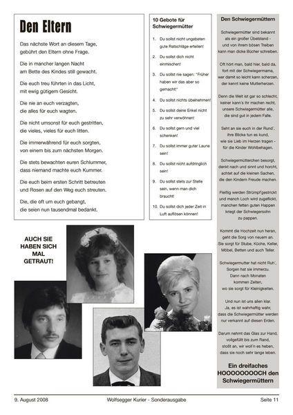 Den Eltern 3 #Hochzeitszeitung #lustig