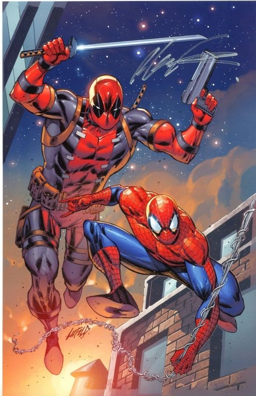 Deadpool & Spider-Man by Rob Liefeld