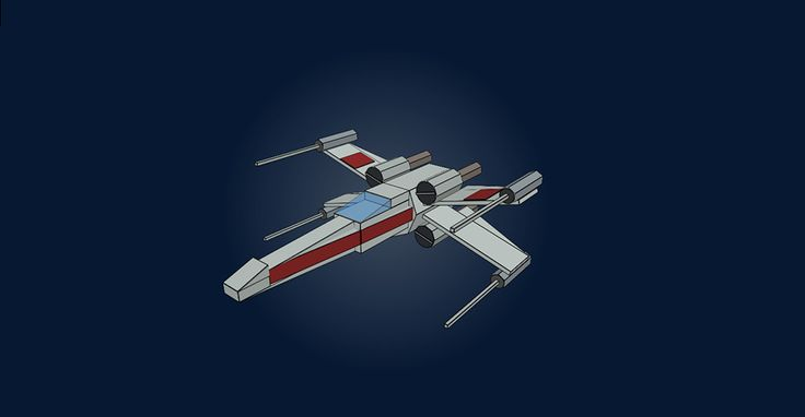 Flat and 3D STAR WARS X Wing! ;)