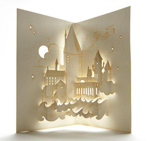 Hogwarts Pop-up Card, so cute