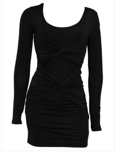 WOMENS MINK PINK BLACK LONG SLEEVE LADIES MINI PARTY EVENING DRESS