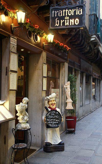 Venice - Calle del Paradiso, Trattoria da Bruno, Italy