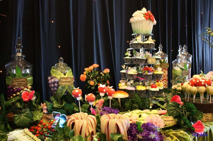Enchanted Forest Candy Buffet by Dolly Lolly Bar | Food ...