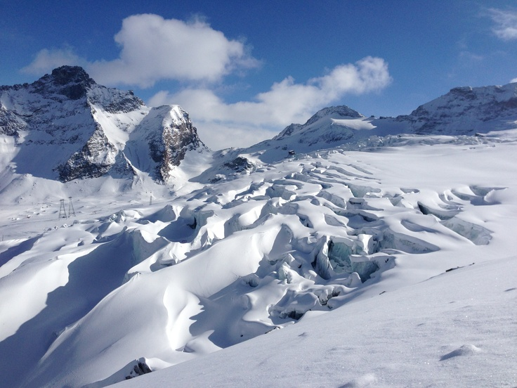 Glaciers in Saas-Fee, Switzerland... careful where you ski!