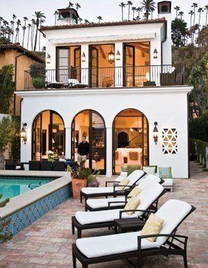 Spanish Style Home.: Interior Design, Dreams Home, Home Interiors, Backyards Patios, Dreams House, Spanish Bedroom, Home Design, Spanish Style, Design Home