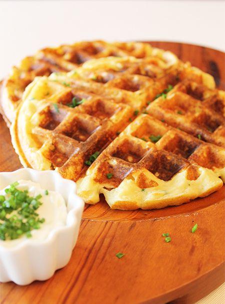 Waffles de batata   Figos e Funghis                                                                                                                                                                                 Mais