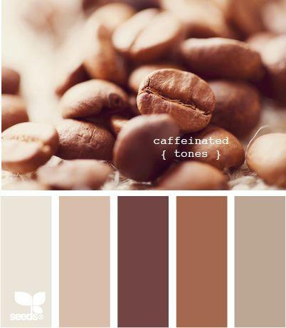 caffeinated tones  En muchos colores, variedades y presentaciones, el café es agradable a la vista, al olfato y al paladar