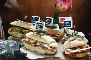 Gorgeous sandwiches from the City Bowl Night Market on Hope street