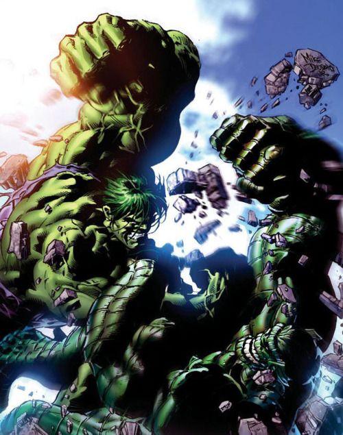 marvel cover art for the incredable hulk vs abomination | The Hulk vs. The Abomination | Comic Book Artwork