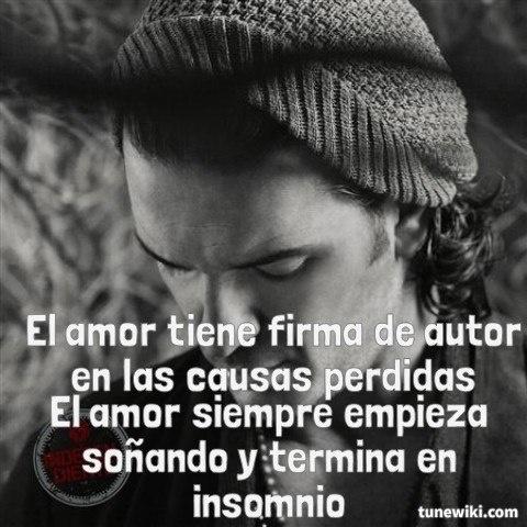 "-- #LyricArt for ""El Amor"" by Ricardo Arjona"