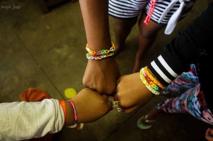 Learners from Durban Christian Centre School created these beautiful loom band bracelets during Arts & Crafts classes at camp.