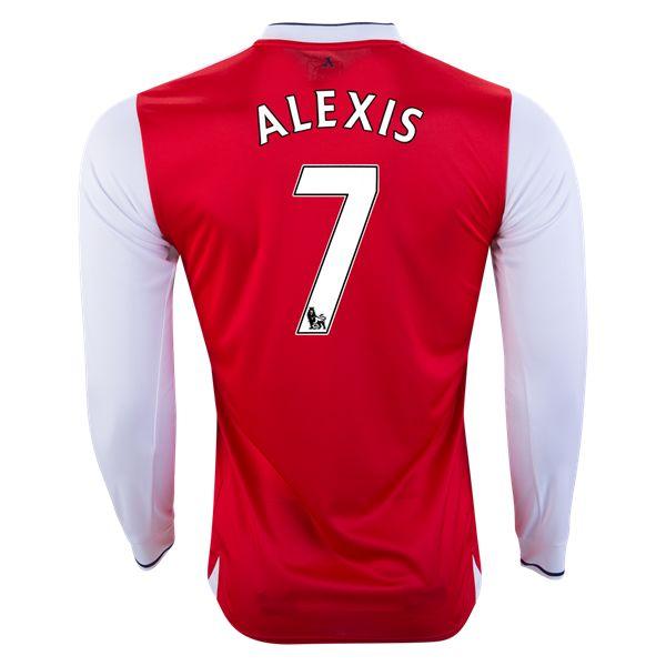 PUMA Alexis Sanchez Arsenal Long Sleeve Home Jersey 16/17