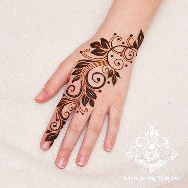 Hennafeaturestudio On Instagram Elegant Floral Henna Strip By New Mehndi Designs Henna Designs Floral Henna Designs