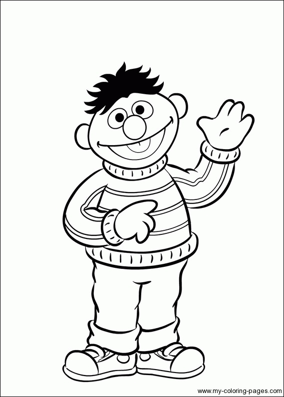 bert ernie coloring pages - photo#1