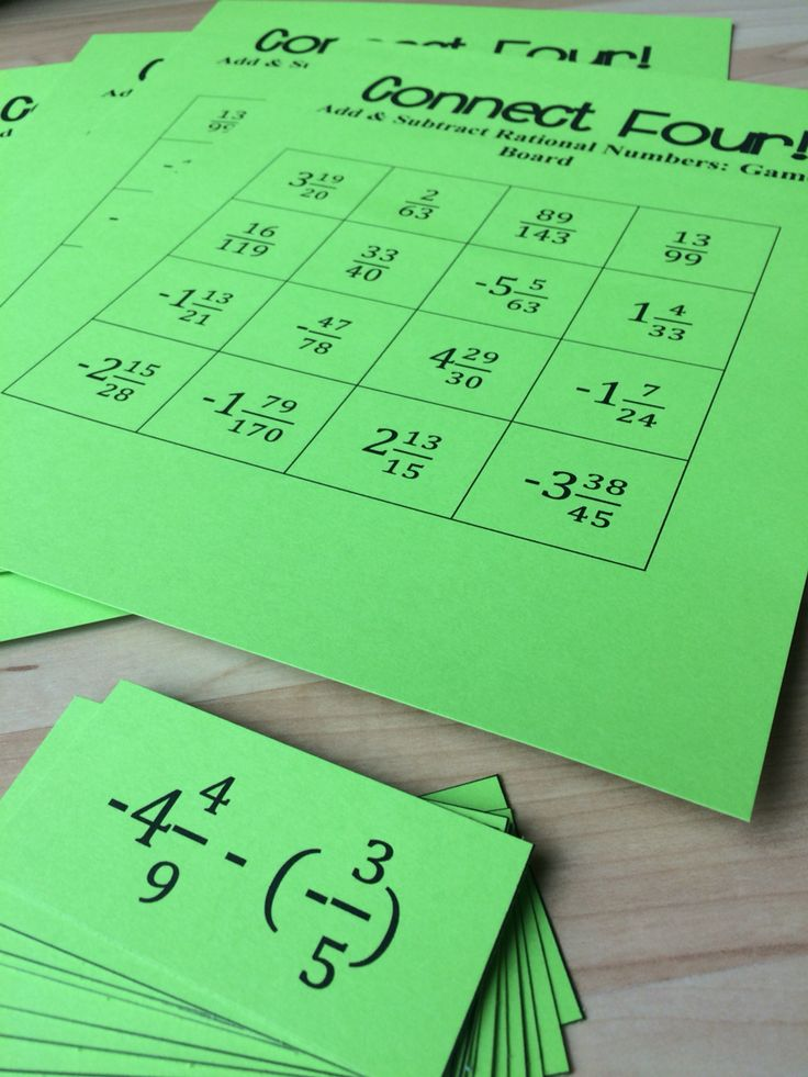 8th Grade Math Connect Four game that helps students practice adding and subtracting mixed numbers/fractions! Includes negative numbers! My students love the friendly competition of these games!