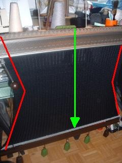 Superba Knitting™: Edge Weight Distribution & Adjusting The Cast On Comb For Home Knitting Machines.