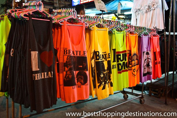 Colorful Shirts http://bestshoppingdestinations.com/shopping-khao-san-road-night-market/