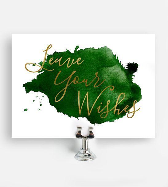 Druckbare Hochzeit Zeichen lassen Sie Ihre Wünsche