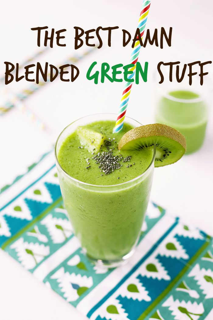 Simple Green Smoothie recipe - Delicious, healthy, fruits and vegetables loaded vegan smoothie that's perfect for weight loss. Full of pineapple, kiwi, spinach, grapes, banana and coconut water. #breakfast #vegan #greensmoothie #recipe #veganrecipe #healthy