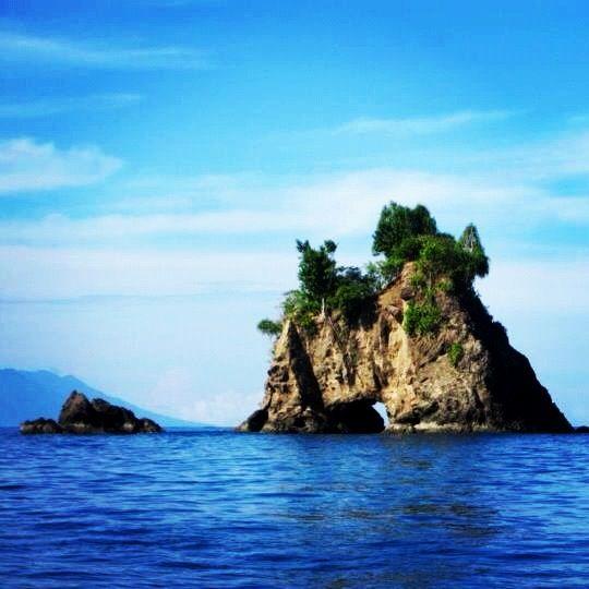 Beautiful Canyon in Jailolo Bay, Maluku, Indonesia.