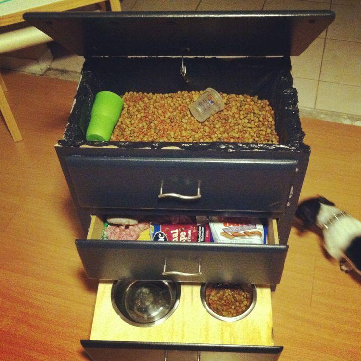 dog food storage dresser move bowls beside bin 39 stuff 39 pinterest. Black Bedroom Furniture Sets. Home Design Ideas